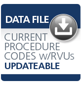 image of Current Procedure Codes with RVUs Subscription Data File